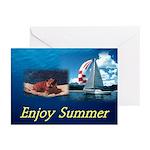 Summer Bulldog Greeting Cards (Pk of 10)