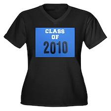 class of 2010 Women's Plus Size V-Neck Dark T-Shir