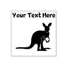 Custom Kangaroo Silhouette Sticker