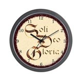 &quot;Soli Deo Gloria&quot; Wall Clock