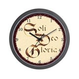 """Soli Deo Gloria"" Wall Clock"