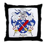 Azcon Family Crest Throw Pillow