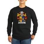 Azcarate Family Crest Long Sleeve Dark T-Shirt