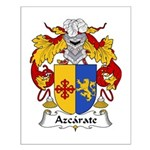 Azcarate Family Crest Small Poster