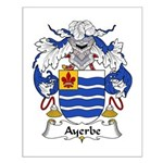 Ayerbe Family Crest Small Poster