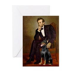 Lincoln's Doberman Greeting Card