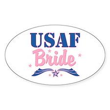 Star USAF Bride Oval Decal