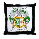 Artinano Family Crest Throw Pillow