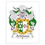 Artinano Family Crest Small Poster