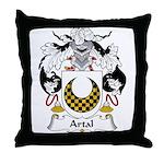 Artal Family Crest Throw Pillow
