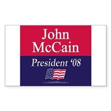 """John McCain 2008"" Rectangle Decal"