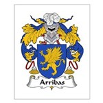 Arribas Family Crest Small Poster