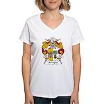 Arregui Family Crest Women's V-Neck T-Shirt