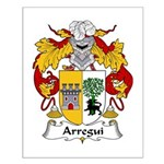 Arregui Family Crest Small Poster