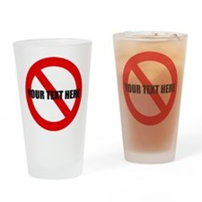 personalized forbidden Drinking Glass