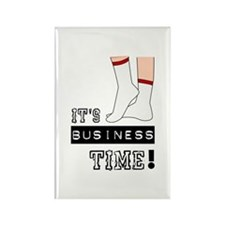It's Business Time Rectangle Magnet