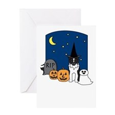 Aussie Howling Halloween Greeting Card