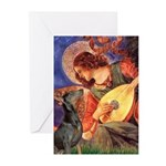 Mandolin Angel & Dobie Greeting Cards (Pk of 20)
