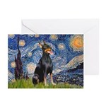 Starry Night Doberman Greeting Cards (Pk of 20)