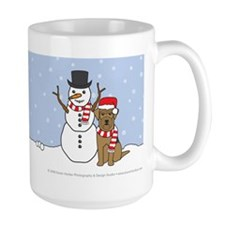 Airedale Terrier Winter Holidays Mug