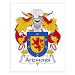 Arizmendi Family Crest  Small Poster