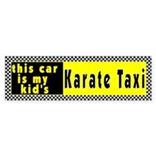 Karate Taxi Bumper Bumper Sticker
