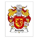 Arevalo Family Crest  Small Poster