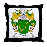 Arana Family Crest Throw Pillow