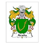 Arana Family Crest Small Poster