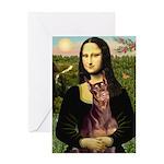 Mona's Red Doberman Greeting Card