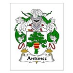 Antunez Family Crest Small Poster