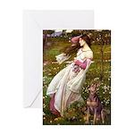 Windflowers / Dobie (#8) Greeting Card