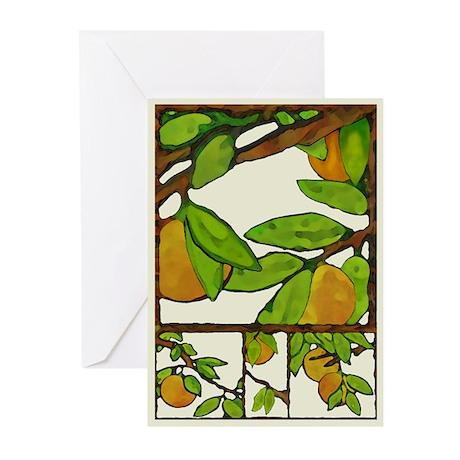 oranges Greeting Cards; blank inside (Pk of 10)