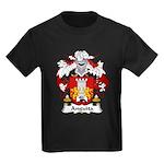 Anguita Family Crest Kids Dark T-Shirt