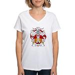 Anguita Family Crest Women's V-Neck T-Shirt