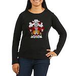 Anguita Family Crest Women's Long Sleeve Dark T-Sh