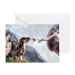 Creation / 2 Dobies Greeting Card