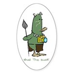 WTD: 3 of 4 Character Series Oval Sticker