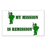 My mission Rectangle Sticker