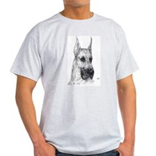 Cropped Fawn Great Dane in dots Ash Grey T-Shirt