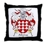 Alberas Family Crest Throw Pillow