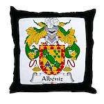 Albeniz Family Crest Throw Pillow