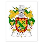 Albeniz Family Crest Small Poster