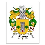 Alamo Family Crest Small Poster