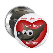 "We Love Wilber 2.25"" Button (10 pack)"