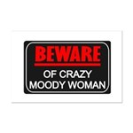 Scott Designs Beware of Crazy Women Mini Poster Pr