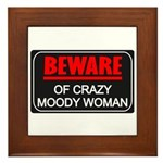 Scott Designs Beware of Crazy Women Framed Tile