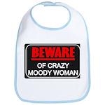 Scott Designs Beware of Crazy Women Bib