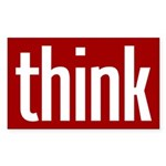 Think (red bumper sticker)