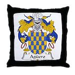 Aguero Family Crest Throw Pillow
